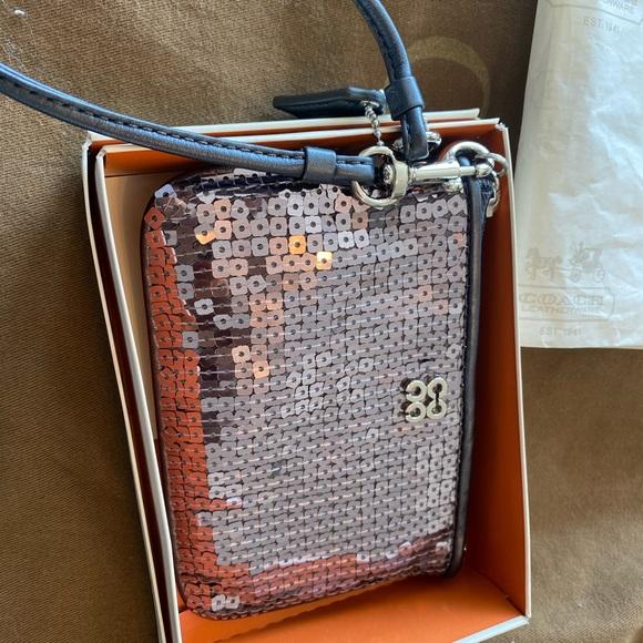 Coach Handbags - Sequin Wristlet